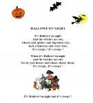 Poèmes et chansons pour Halloween - Lecture - Vie de la classe : 2eme, 3eme, 4eme, 5eme Primaire